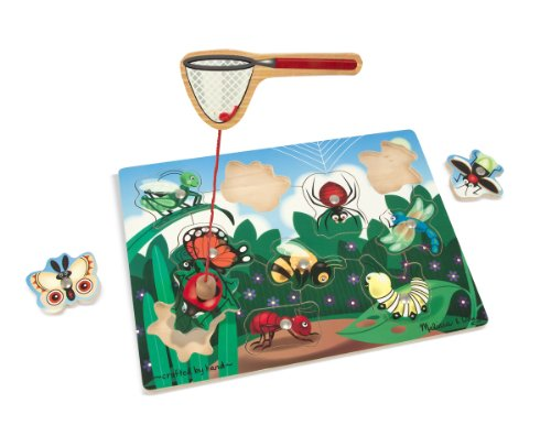 Melissa & Doug Magnetic Wooden Bug-Catching Puzzle Game (10 pcs) ()