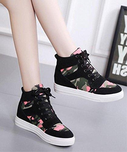 Womu's Scarpe aumento Scarpe classiche classiche moda 6 alla Canvas Casual Casual delle scarpe 5UwFxSf