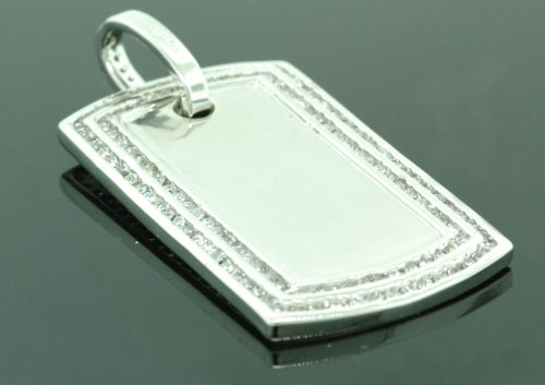 .925 Sterling Silver Men Crystal Stone Mirror Piece NEW!!! by IcedTime