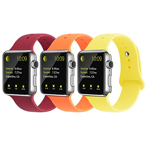 (YUNSHU Compatible iWatch Band Replacement iWatch Band 38mm/40mm M/L for Women and Man Soft Sports Band Strap Silicone Series 4 Series 3 Series 2 Series 1-3)