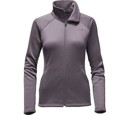 cb0b333a9 The North Face Women's Agave Full Zip Fleece Rabbit Grey Heather at ...