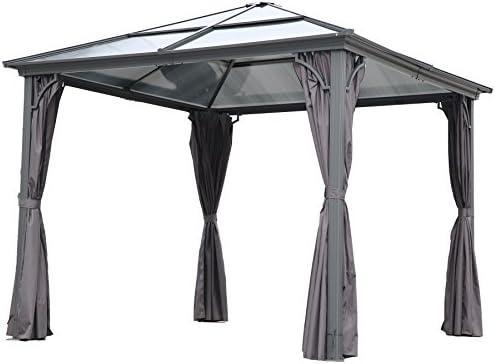 Angel Living 3 x 3 m Aluminio Patio Gazebo Toldo Marquee Carpa ...