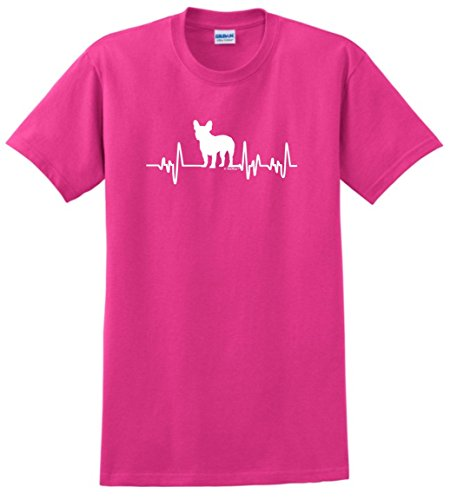 French Bulldog Rescue Mom Dad French Bulldog Gifts Dog Lover Heartbeat Frenchie T-Shirt 3XL Hlcna ()