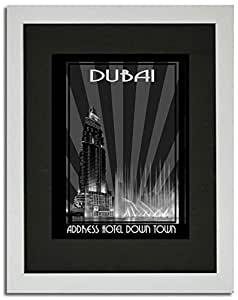 Address Hotel Down Town- Black And White F02-nm (a4) - Framed