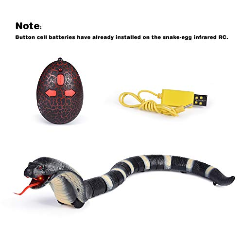 7007df51bfb04 FUN LITTLE TOYS Remote Control Snake Toy, 17 Inch Rechargeable RC ...