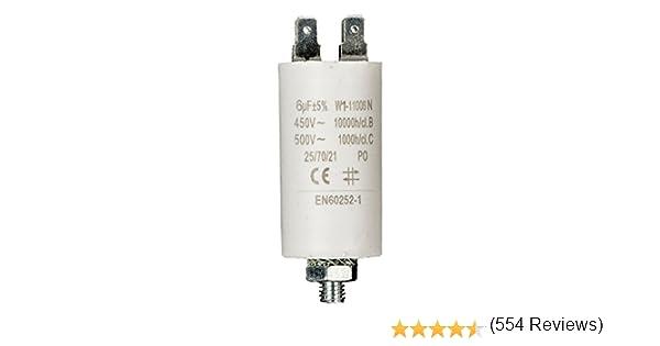 Fixapart - Condensador 6.0Uf / 450 V + Tierra: Amazon.es: Electrónica