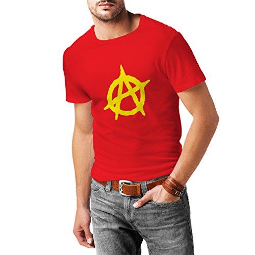 shirt T Hommes Symbole Pour Rouge me Conception De Anarchiste Politique Lepni Jaune 5qwxpESI