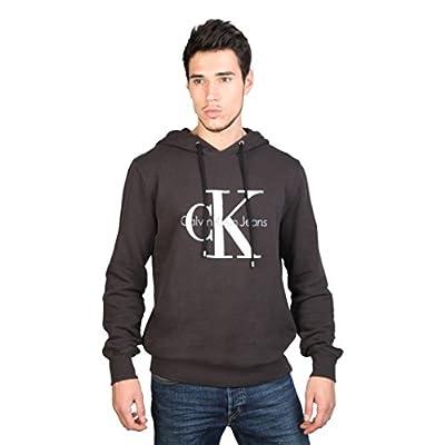 Calvin Klein Mens Printed Logo Long Sleeve Hoodie