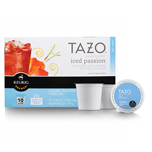 Tazo Sweetened Iced Tea for K-Cup, Passion, 10 ct (Pack of - Tea Fruit Iced Passion