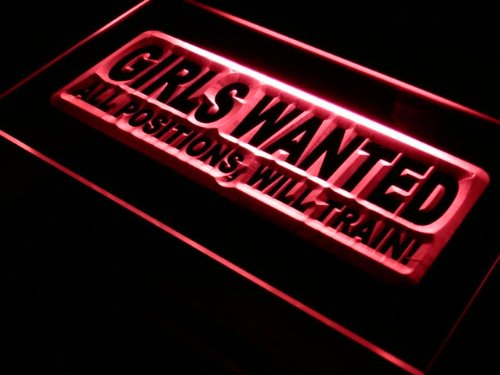ADVPRO Cartel Luminoso s006-r Girls Wanted All Positions Bar ...