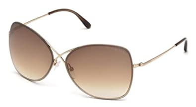 2945f7686795 Image Unavailable. Image not available for. Color  Sunglasses Tom Ford  FT0250 28F shiny rose gold   gradient brown