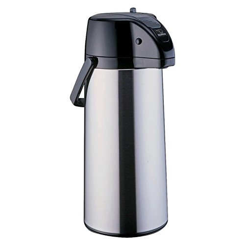 Premier Beverage Dispenser 9 Cup Airpot Finish: Silver w/Decaf Lever ()