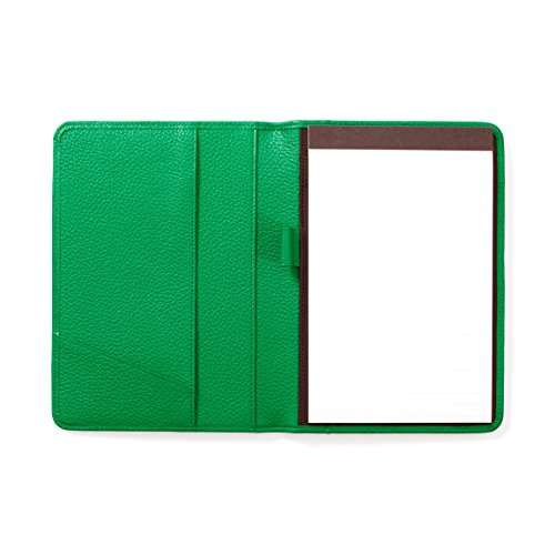 Padfolio Green (Leatherology Junior Padfolio with Pen Loop - Full Grain Leather - Kelly Green (green))