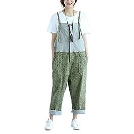 Soojun Women's Relaxed Fit Denim Bib Overalls Jumpsuit