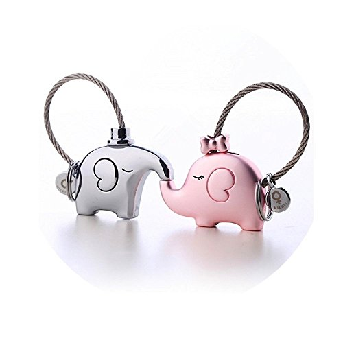 MILESI Original Fantastic Kissing Elephant Couples Keychain Valentine's Gift