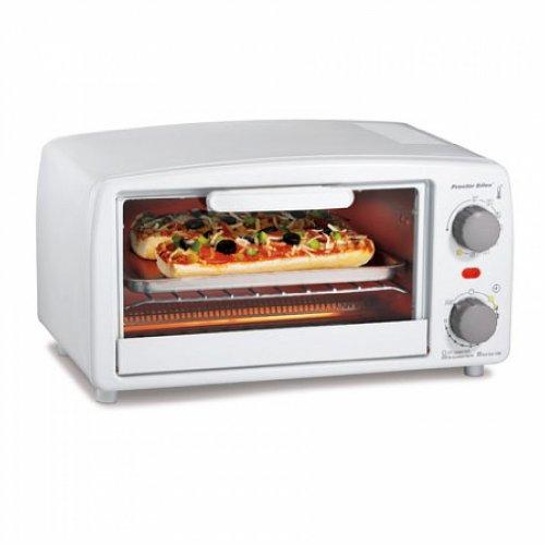 Proctor Silex 4-Slice Toaster Oven White 31116R