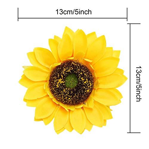 Artificial-Flowers-14pcs-Large-Sunflower-Heads-51-Silk-Flower-Sunflower-Yellow-Flower-Bulk-for-Wedding-Table-Centerpieces-Home-Kitchen-Wreath-Cupcakes-Topper-Decor