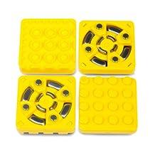 Modular Robotics Cubelets Brick Adapter Kit, 4-Pack, Yellow