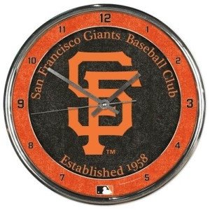 - San Francisco Giants Round Chrome Wall Clock