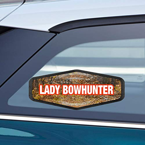 Womens Lady Hunter 8' - Makoroni - LADY BOWHUNTER Hunters Hunting Car Laptop Wall Sticker Decal - 3.5'by8'(Small) or 4'by10'(Large)