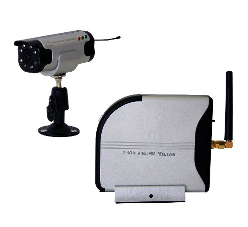 amazon com wisecomm cw3510 4 channel 2 4ghz wireless color amazon com wisecomm cw3510 4 channel 2 4ghz wireless color security system audio small grey bullet cameras camera photo