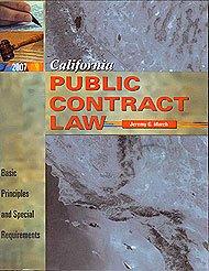 California Public Contract Law