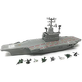 Amazon.com: Toy Aircraft Carrier Playset includes 6 ...