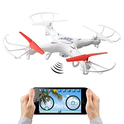 AKASO X5KW App Controlled Drone 4CH 2.4GHz 6-Axis Gyro WiFi FPV Real Time Video Mini RC Quadcopter with 1.3MP HD Camera
