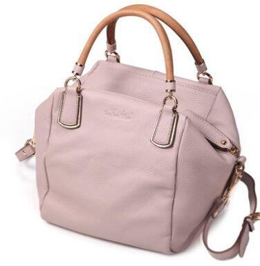 Talentote Women's Nature Soft Leather Handbag Shoulder Bag Large Size Bags Ttc-bd-n26331 (S, pink)
