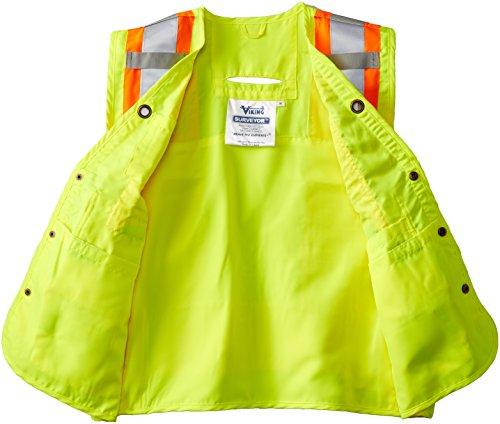 Viking Surveyor Hi-Vis Safety Vest, Green, XX-Large by Viking (Image #3)