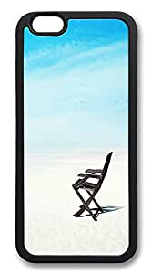 """ICORER iPhone 6 Plus Case 5.5"""" Beach Chair Customize TPU Case Cover for Apple iPhone 6 Plus Black"""