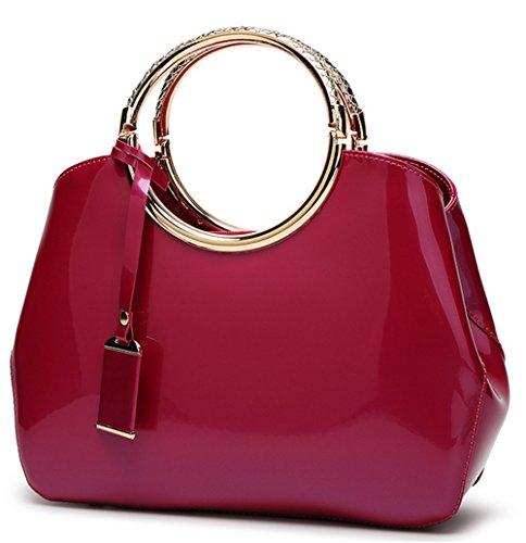 Bolsos de señora Xinmaoyuan patente novia bolsos de cuero Bolsos señoras bolso Rojo