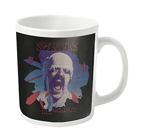 Scorpions Mug Blackout Album Cover Logo Official White Ceramic - White T-shirt Album