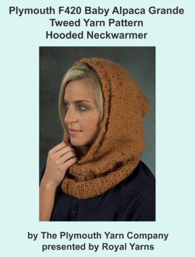 (Plymouth F420 Baby Alpaca Grande Tweed Hooded Neckwarmer (I Want To Knit))