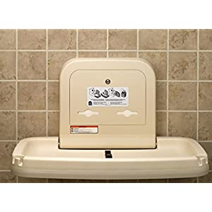 Koala Kare KB200-11 Horizontal Wall Mounted Baby Changing Station, Earth