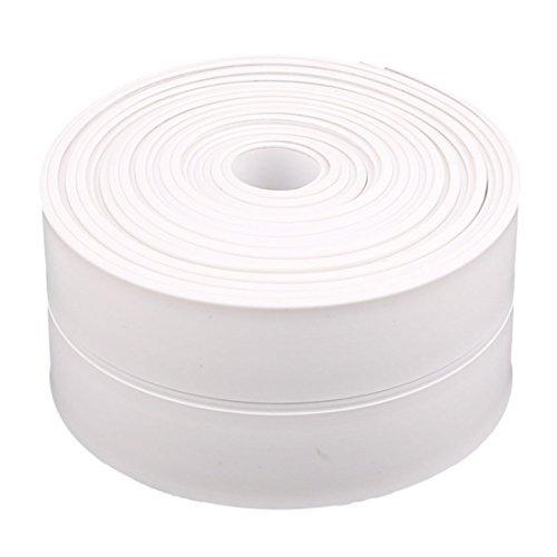 DealMux PVC Casa de Banho Cozinha auto-adesivo parede rachadura reapir Mildew fita impermevel Branco