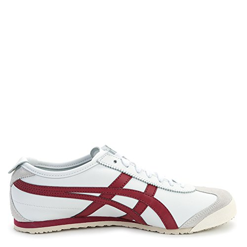 Asics Onitsuka Tiger Men's Mexico 66 Sneakers D4J2L.0125 White/Burgundy SZ 7 M