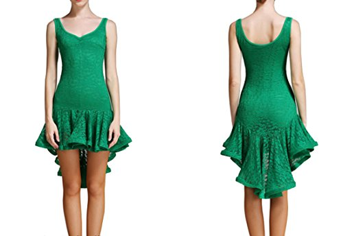 skirt dress skirt dance skirt dress Ballroom Lace dress Modern Green Latin Irregular Tango Latin q4S7X0Sw