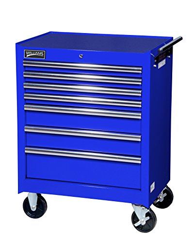 Williams 50768BL  7 Drawer Super Value Roll Cabinet, 27-Inch X 18-Inch, Blue