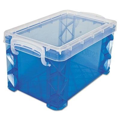 """Advantus - 8 Pack - Super Stacker Storage Boxes Hold 400 3 X 5 Cards Plastic Blue """"Product Category: Desk Accessories & Workspace Organizers/Card Files Holders & Racks"""""""