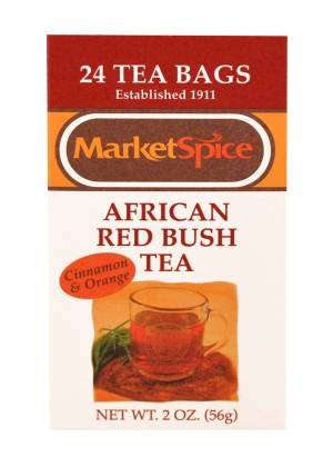 Cinnamon-Orange African Red Bush Teabags (Rooibos)