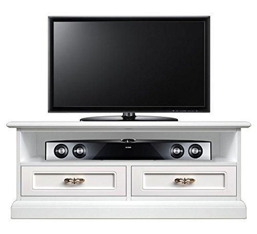 klassischer tv rack soundbar mit 2 schubladen sockelleiste gegen staub raum fur soundbar