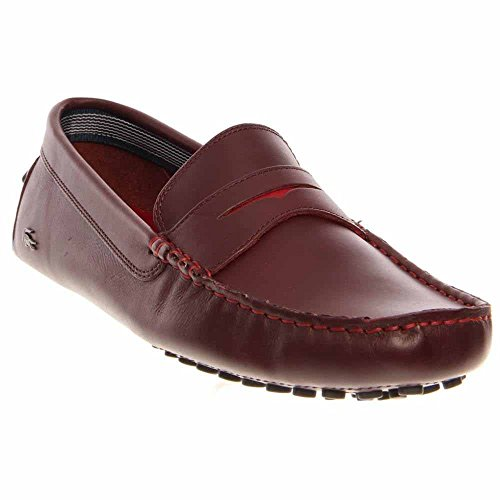 96a840bba Lacoste Mens Shoes Loafers Concours 12 Dark Red Leather - Buy Online in  UAE.