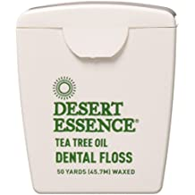 Desert Essence Tea Tree Oil Floss, 50 yds, 6 Pack