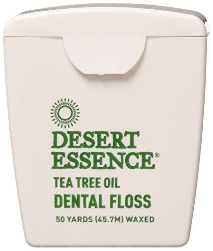 - Desert Essence Tea Tree Oil Floss, 50 yds, 6 Pack