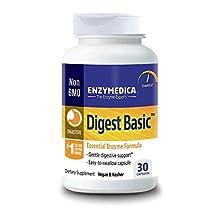 Enzymedica - Digest Basic, Essential, Full Spectrum Digestive Enzymes, 30 Capsules