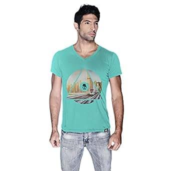 Creo Dubai T-Shirt For Men - L, Green