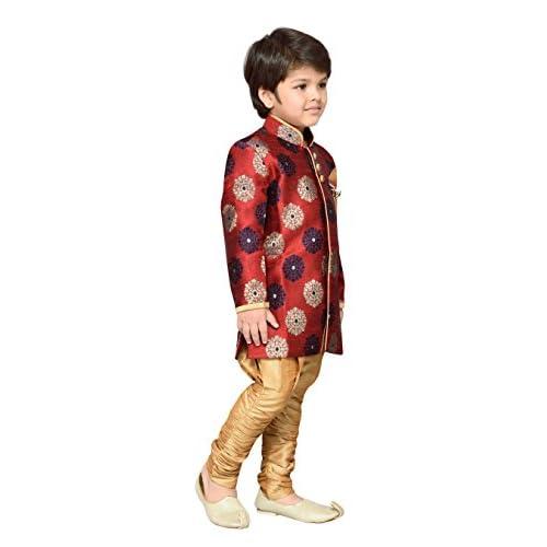 41RtkjEM4KL. SS500  - AJ Dezines Kids Festive Sherwani for Boys