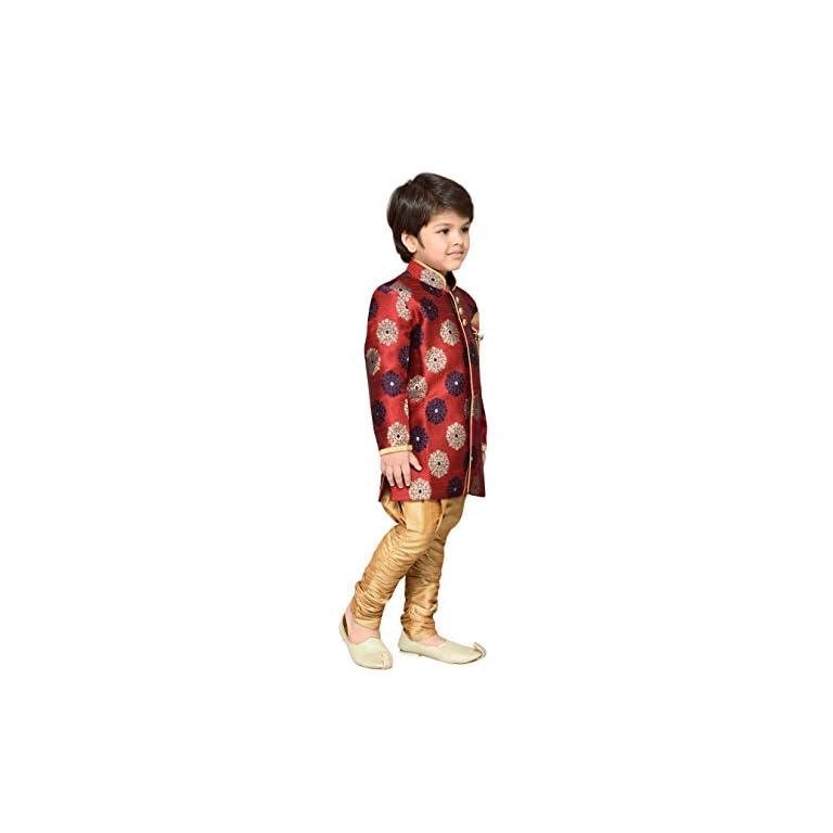 41RtkjEM4KL. SS768  - AJ Dezines Kids Festive Sherwani for Boys