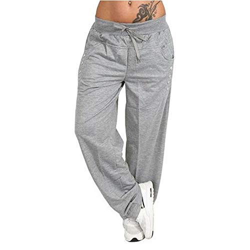 Womens Autumn Winter Wide Leg Yoga Sports Loose Casual Long Pants ()